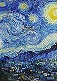 2021: Agenda Settimanale Con Orari 5:00 - 23:00 | Vista Verticale | 1 Settimana Su 2 Pagine | 12 Mesi Planner Intempo| Formato A4 | Diario Caledario ... Agenda Giornaliera | Van Gogh Notte stellata