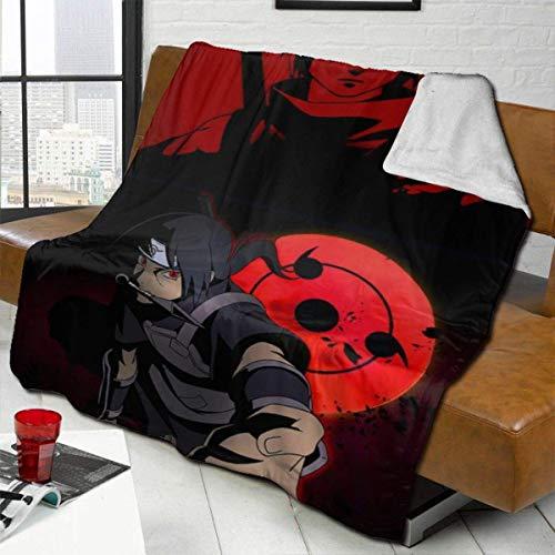 Xuanlin Anime NA-ru-to-it-ac-hi Mangekyo Sha-rin-g-eine gemischte Decke, Fuzzy Breathable Große Bettdecke aus massivem Lammwolle Bettdecken Tagesdecke passen Couch Wohnzimmer Sofa, 60x50in