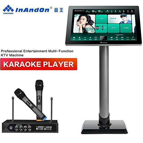Best Deals! Karaoke Machine with Lyrics Display, InAndOn X5 New Gen One-piece Type Professional Ente...