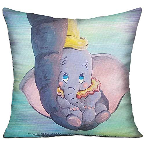 Klotr Federe Cuscino Divano, Dumbo Being Held by His Mother's Trunk Decorative Throw Pillow Case Cushion Cover 18' X 18' (with Core Pillow)