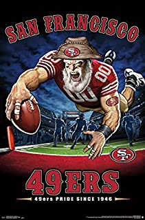 Trends International NFL San Francisco 49ers - End Zone Wall Poster, 22.375 x 34, Unframed Version