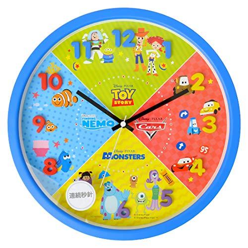 時計 壁掛け 掛け時計 30cm 壁掛け時計 立体文字盤 子供部屋 インテリア (Disney/ピクサー柄)