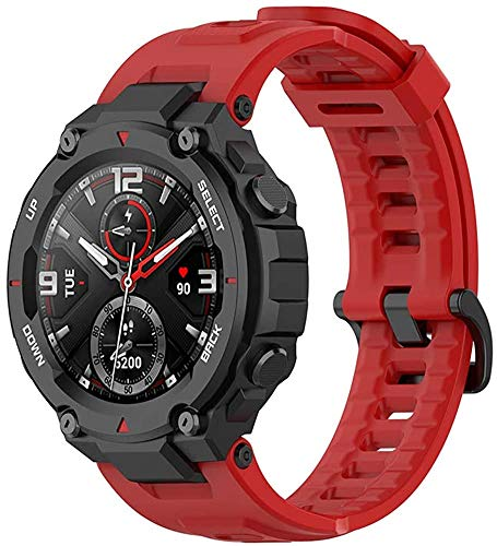 Gransho Correa de Reloj Recambios Correa Relojes Caucho Compatible con Amazfit T-Rex - Silicona Correa Reloj con Hebilla (Pattern 6)