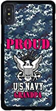 FIDIKO Proud US Navy Grandpa Phone Shell Compatible iPhone Xs Max, Cute Hard Plastic Durable | Anti Scratch Hard Back Compatible iPhone Xs Max