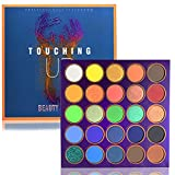 Matte Rainbow Eyeshadow Make Up Palette Glitter 25 Shades Pigmented Makeup Palettes Blendable Natural Colors Make Up Eye Shadows Long Lasting Waterproof Makeup Pallet (Touching Up)