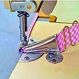 Curva Edge Bies Binder, tamaño de la cinta overlock, doble plegado ajustable en ángulo recto para máquina de coser...