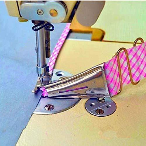 Curva Edge Bies Binder, tamaño de cinta overlock, doble plegado ajustable en ángulo recto para máquina de coser industrial (45 mm)