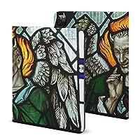 IPADペンスロット保護カバーブック(iPad Pro 2020モデル)ipad保護カバー11インチAppleタブレットipadアンチドロップエアバッグアンチドロップGhost Devil Stained Glass Window