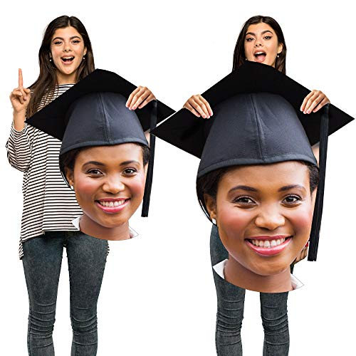 """Party City Custom Graduation Big Head Cardboard Cutout, Upload Your Own, Personalized Party Supplies, Decorations, 24"""" H"""