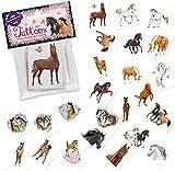 24 Tattoos * Pferde * als Mitgebsel und Spiel für Kinder | 47320 | Tapirella Pony Fohlen Sticker Tattoo Kindertattoo Kindergeburtstag Geburtstag