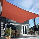Artpuch 12' x 16' Sun Shade Sails Rectangle Canopy, Rust Red UV Block Cover for Outdoor Patio Garden Yard