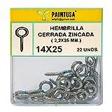 Hembrilla cerrada zincada 14 x 25 mm 22 uds