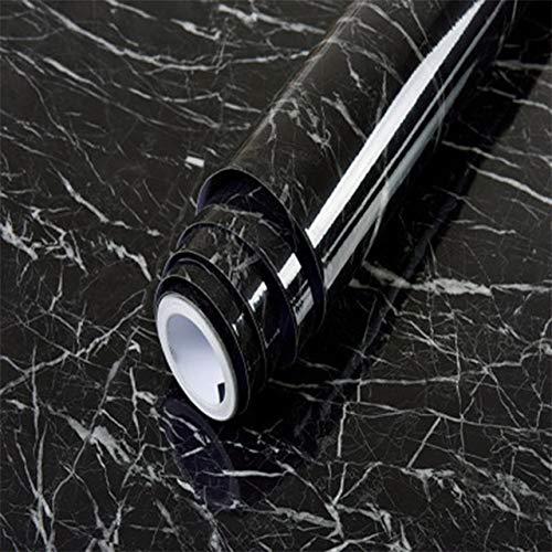 SPFOZ Haus Dekoration 2 Meter wasserdichte PVC Marmor/Holz/Pure Color Wallpaper Fashion Popular Wohnzimmer Küche-Wand-Aufkleber-Raum-Dekor Film Aufkleber