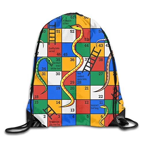 Hicyyu Drawstring Backpack Gym Bag Travel Backpack The Game SEO Small Drawstring Backpacks Women Men Adults