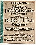 Einladungsschrift zur Totenfeier von Dorothea Rotenbach geb. Pritzbaur.