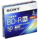 ソニー ビデオ用ブルーレイディスク 5BNR2VJPS6(BD-R 2層:6倍速 5枚パック)