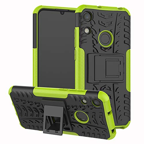 LFDZ Huawei Honor 8A Custodia, Resistente alle Cadute Armatura Robusta Custodia Shockproof Protective Case Cover per Huawei Honor 8A / Huawei Y6 2019 Smartphone,Verde