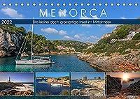 Menorca, die kleine doch grossartige Insel im Mittelmeer (Tischkalender 2022 DIN A5 quer): Die kleine Schwester von Mallorca besticht durch unberuehrte Natur, malerischen Leuchttuermen und historischen Plaetzen. (Monatskalender, 14 Seiten )