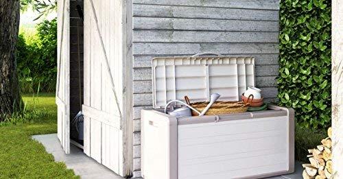 KIS Gulliver, Caja de almacenaje, Beige 300 litros, 118 x 49 x 55 cm