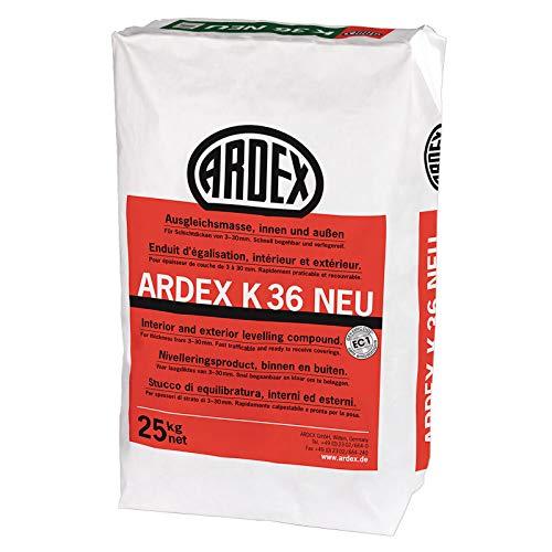 ARDEX K36 NEU Ausgleichsmasse 25 kg - Zum Spachteln, Ausgleichen und Nivellieren im Außen- und Innenbereich