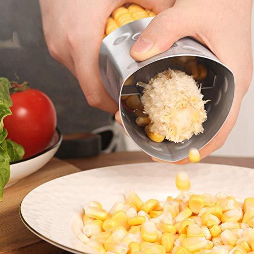 Fashion888 Acero inoxidable Triángulo Maíz Cepilladora antideslizante Mango trilladora de maíz