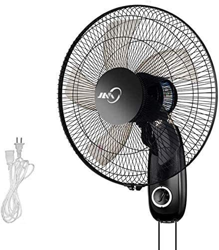 TOPNIU Wall Mounted Oscillating Fan Black Industrial Wall Mount Fan, High Velocity/Heavy Duty, for Home, Outdoor, Commercial, Restaurant. (Color : Without Remote Control, Size : A)