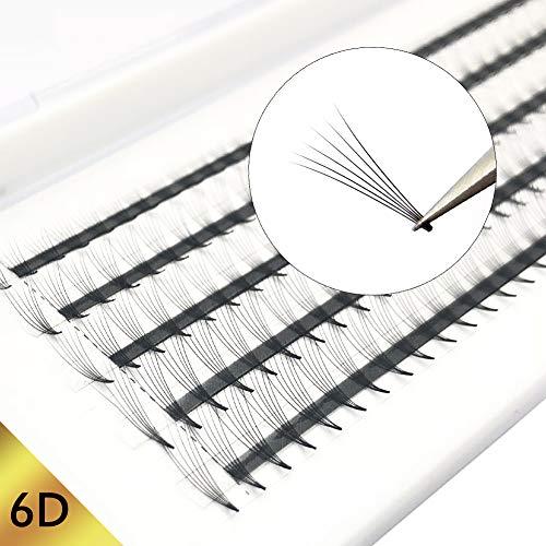 Wimpern Extensions 6D 0.07mm C Curl Russische Wimpern Extensions Individuell Cluster Wimpernverlängerung Mixed Tray 6D vorgefertigten Volumen Wimpernfans für die Schönheit von Obeya