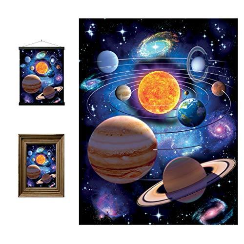 Sie sind hier lentikulare Wand Art Prints 3D Livelife von Deluxebase. Kühles und pädagogisches Sonnensystem-Raum-Plakat. Originalvorlage genehmigt vom bekannten Künstler David Penfound