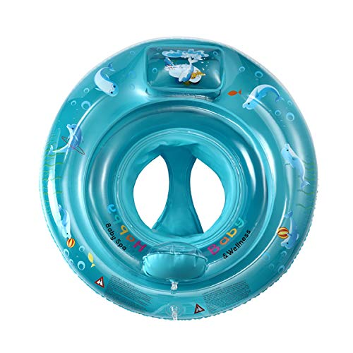 superqiu Baby Swimming Ring Floats with Safety Seat Inflatable Swimming Ring with Float Seat,Suitable for Children from 6 Months to 6 Years Old
