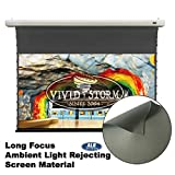 VIVIDSTORM Office/Home 8K/3D/UHD,Ceiling and Wall,Slimline Tab-tensioned Screen,Electric Drop Down Screen,120-inch Diag 16:9, Ambient Light Rejecting, Wireless 12V Projector Trigger,VMSLALR120H