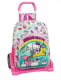 Candy Unicorns Mochila con Carro Ruedas Evolution, Trolley