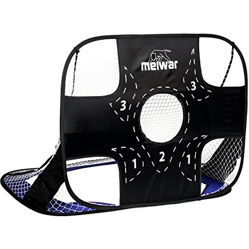 meiwar Porte da Calcio Pieghevoli - Porticine Calcio | Porta da Calcio per Giardino | Piccole, Portatile | 125x85cm | 1x Blu 2 in 1