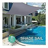 ARTFFEL Aire Libre 280GSM de poliéster Impermeable Cortina de Vela triángulo rectángulo Toldo Impermeable al Aire Libre Sombra Carpas Jardín Garaje Jardín (Color : Grey 4x3m)