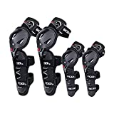 SCOYCO Motorcycle Knee & Albow Guards,with PP Shell Protector, Powersports Knee & Shin Safe Protection for Outdoor Cycling Racing Sports(4 in 1)