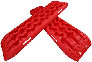 X-BULL New Recovery Traction Tracks Sand Mud Snow Track Tire Ladder 4WD (3Gen, Red)