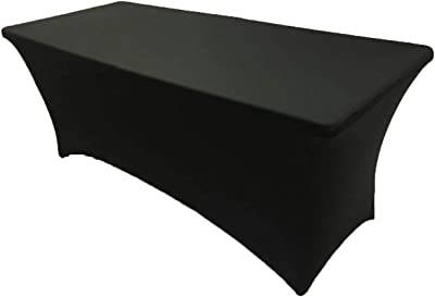 8ft Rectangle Spandex Lycra Tablecloth Cover Stretch for Party Wedding Birthday