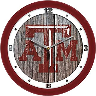 SunTime Texas A&M Aggies - Weathered Wood Wall Clock