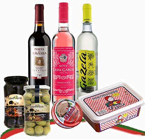 PortuBox by Queenbox® - Portugiesische Spezialität Feinkost Geschenkbox Wein & Naschereien