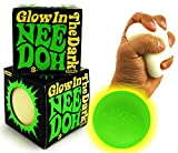 Schylling Glow in The Dark NeeDoh (Groovy Glowing Glob) Squishy, Squeezy, Stretchy Stress Balls Gift Set Bundle - 2 Pack