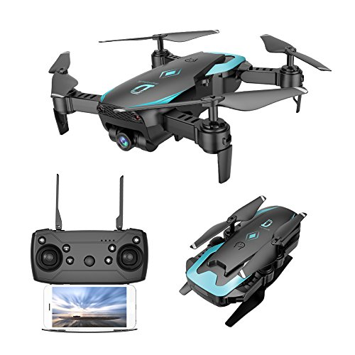 Mini Drone Pliable avec 0.3MP Caméra HD WiFi FPV Helicoptère Télécommandé avec Mode sans Tête,...