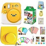 Cámara Fujifilm Instax Mini 9 + Fuji Instax Mini Film + Cámara Polaroid Instax Mini 9 Purple+ Instax Mini 9 Funda + Kit de Accesorios Instax Bundle, Juegos de Regalo de cámara instantánea - Gudetama