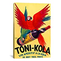 iCanvasART Toni Kola Vintage Ad Poster by Unknown Artist Canvas Art Print