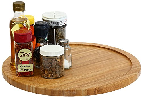 YBM HOME Bamboo Wooden Lazy Susan Turntable 14 Inch Diameter 356