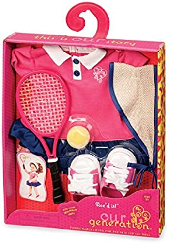 forma única Our Generation Dolls Ace' D It    Tennis Outfit for Dolls, 18 by Our Generation  tienda de venta