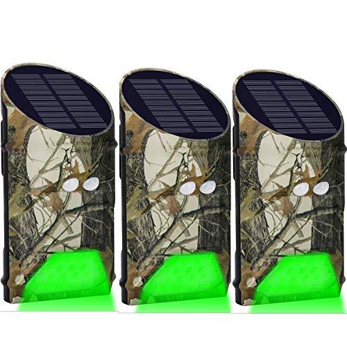 Lilbees Hog Feeder Light Motion Activated Green Light for Predator Coyote Pig Varmint Deer Hog Night Hunting(FL-3)(Pack of 3)