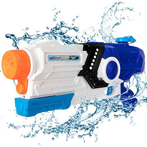 Pistolet à eau jouet - 2000 ml - Pour enfants et adultes - Grand pistolet pulvérisateur à eau de 8 à 10 mètres...