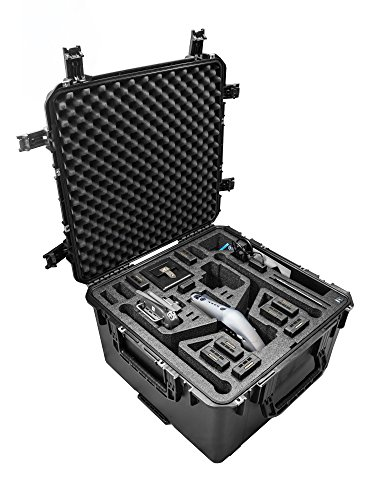 CasePro CP-DJI-Inspire-2 Wheeled Hard Case Landing Mode, Black