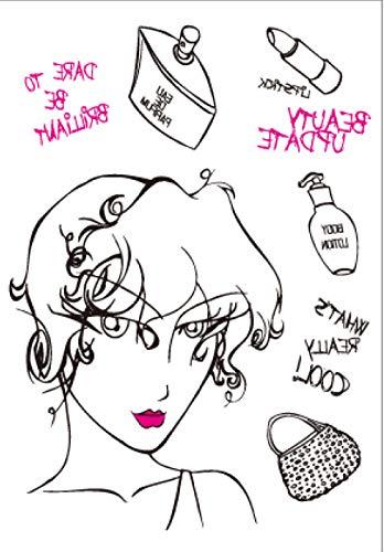 Maquillaje De Niña Pegatinas De Transferencia De Tatuaje Temporal Cuerpo Hombre Mujer Impermeable Extraíble Seguro Para Toda La Piel Festival 21X15Cm 5 Pcs