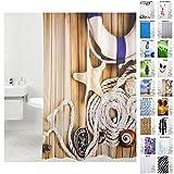 Sanilo Duschvorhang, viele schöne Duschvorhänge zur Auswahl, hochwertige Qualität, inkl. 12 Ringe, wasserdicht, Anti-Schimmel-Effekt (180 x 200 cm, Maritime)