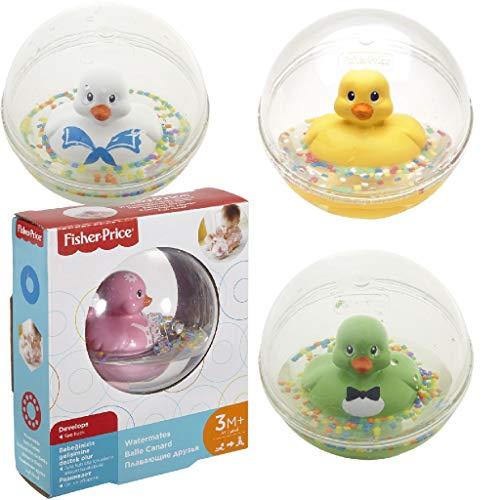 Fisher-Price - Patito a flote amarillo, juguete de baño para bebé (Mattel 75676)